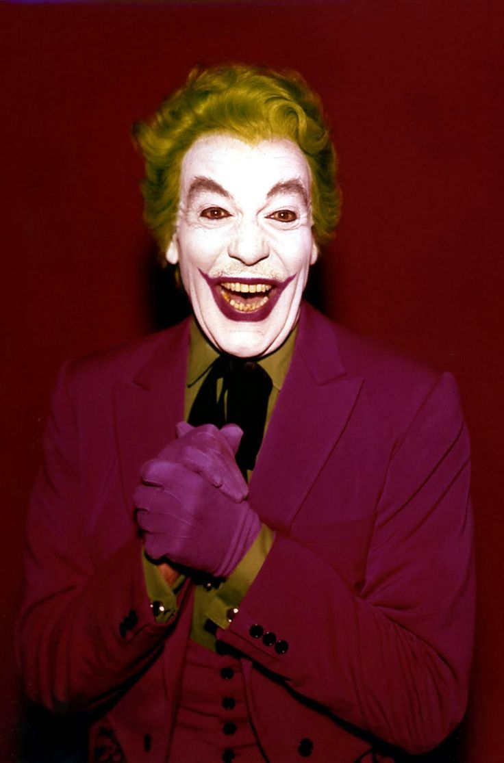 Cesar Romero as The Joker (1966)...scared me to death.