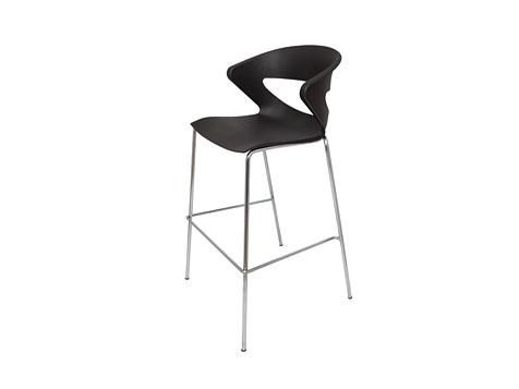 C06 - Bar Stool Chrome Frame Black Indoor Use Only 3 Year Warranty