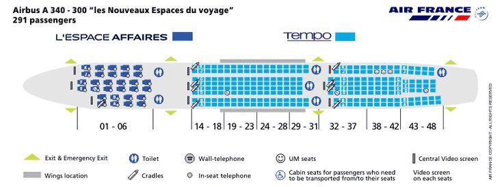 Top 10 Punto Medio Noticias Airbus A340 300 Seating Air France