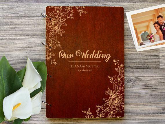 Wedding Photo Album. Personalized Photo Album by WoodPresentStudio