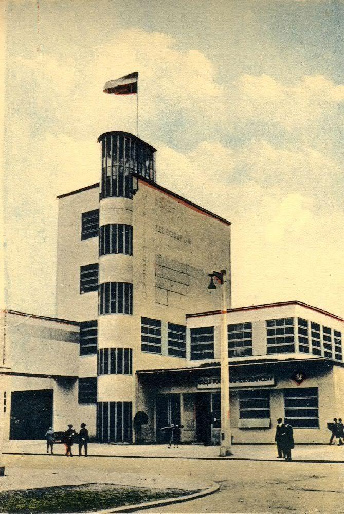 Poznan Poland, nieistniejący Pawilon Ministerstwa Poczt i Telegrafów. PWK Poznań 1929.