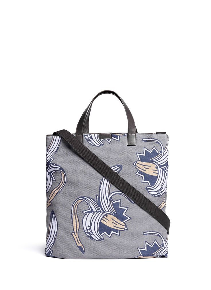 PAUL SMITH - Banana jacquard leather canvas tote | Multi-colour Tote Bags | Menswear | Lane Crawford - Shop Designer Brands Online