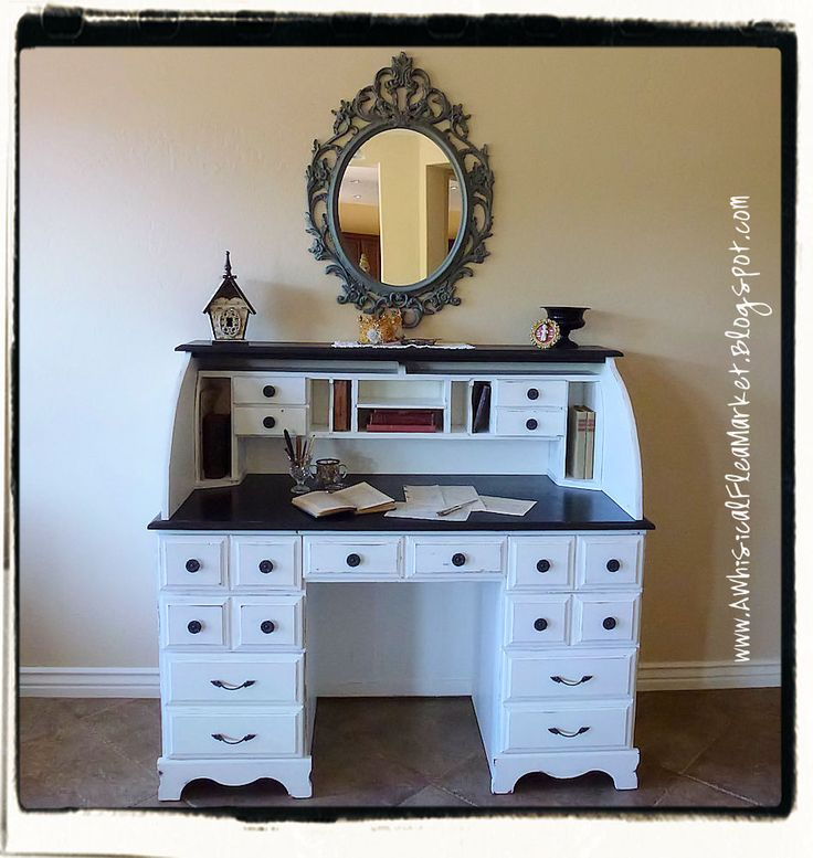 A Whimsical Flea Market: French Queen Bee Desk Makeover