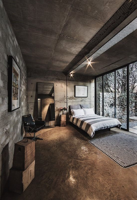 Trendy industrial style bedroom, Celtis House - #centurion #pretoria