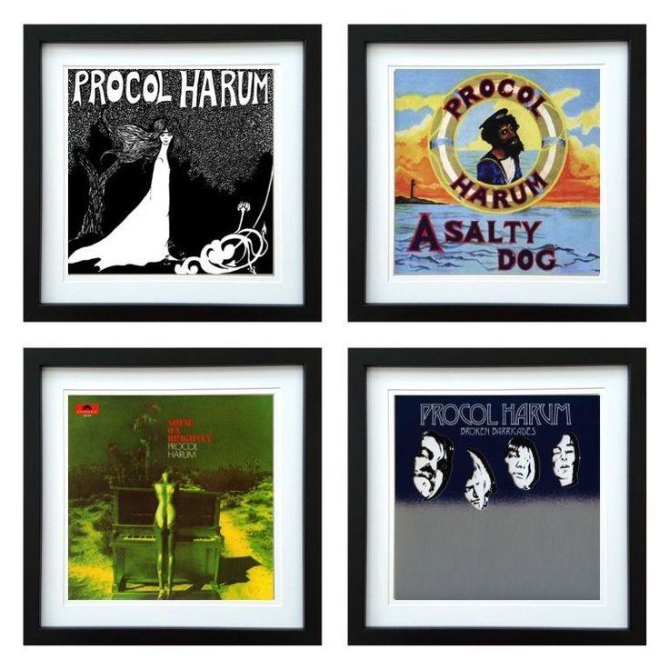 Procol Harum   Framed Album Art Set of 4 Images   ArtRockStore