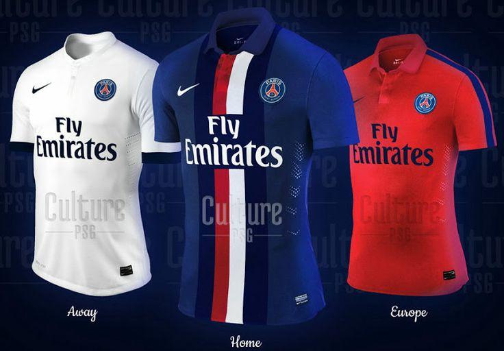 Imagens das camisas do PSG para 2014 - http://www.colecaodecamisas.com/imagens-das-camisas-do-psg-temporada-2014-15/ #colecaodecamisas #Nike, #Psg
