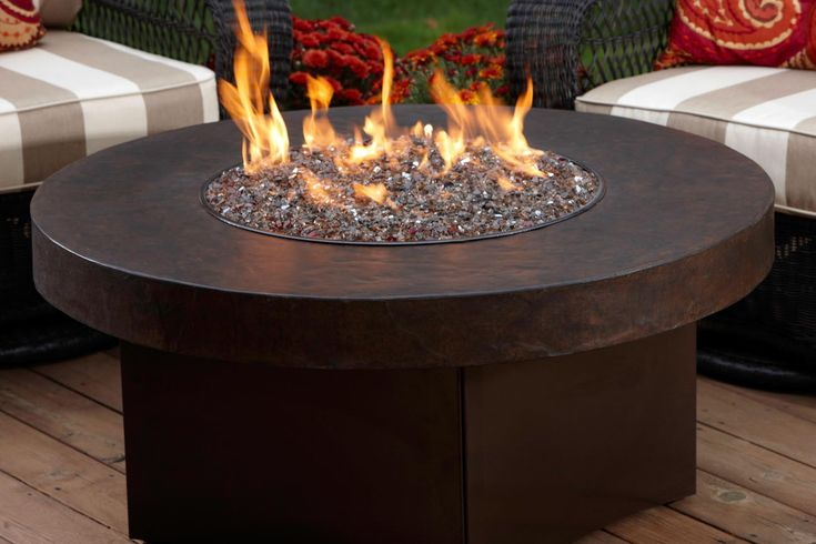 Wood Burning Fire Table | Stonepocket Unique Landscapes Fire in the Backyard Landscpe ...