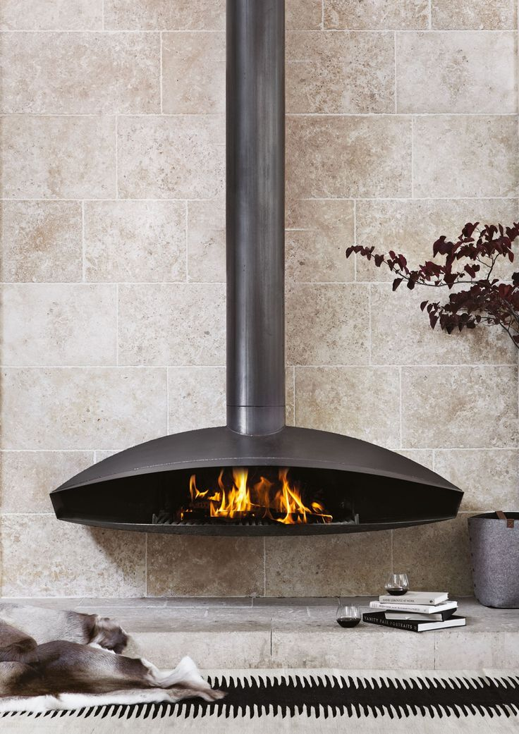 AnteFocus wall hung fireplace handmade in France