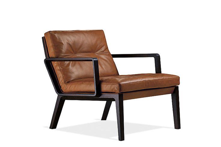 Walter Knoll Andoo Lounge. Een comfortabele lounge stoel met een zacht lederen bekleding. www.deprojectinrichter.com/walter-knoll/