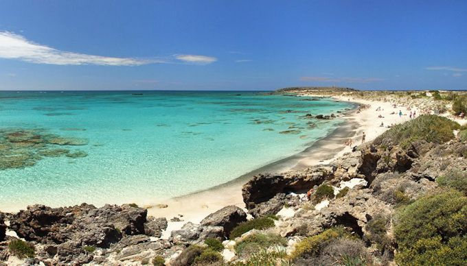 Elafonisi Beach in Crete, Greece. Visited this place in 2003. By far the most beautiful beach I've ever seen in my life so far.