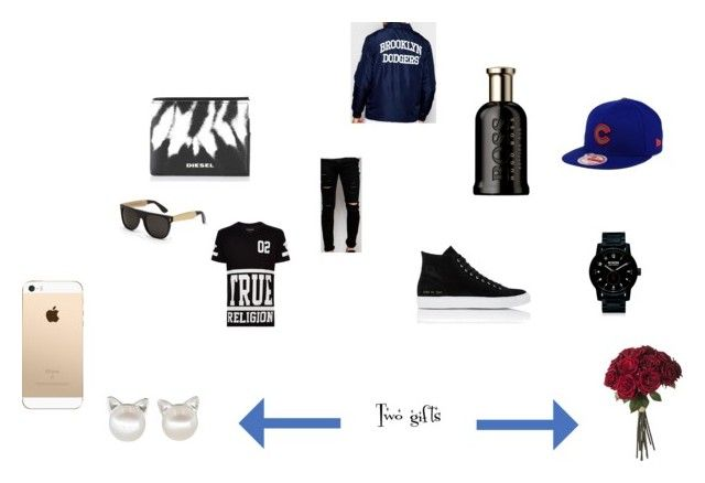 """""""Dodgers date"""" by emmapkerr5 on Polyvore featuring True Religion, Majestic, Cheap Monday, Common Projects, Nixon, Diesel, New Era, RetroSuperFuture, HUGO and men's fashion"""