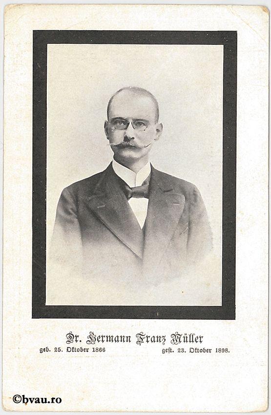 """Franz Müller. Imagine din colecțiile Bibliotecii """"V.A. Urechia"""" Galați."""