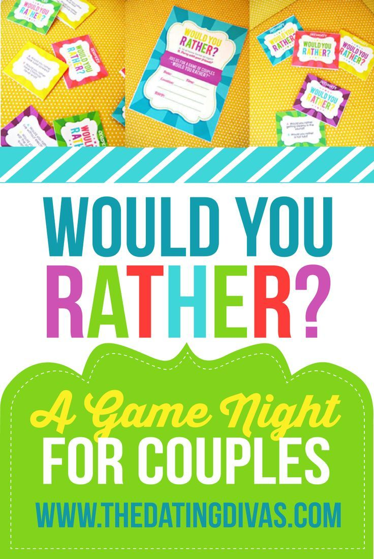 Couples Would You Rather Couples game night, Dating