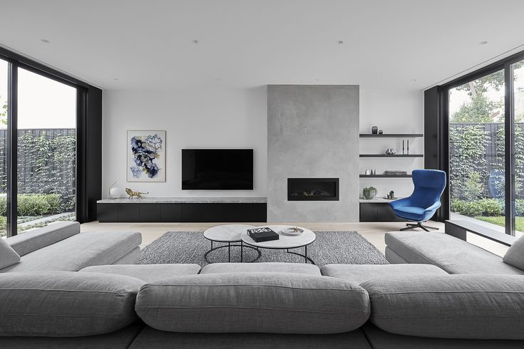 stunning award winning living room interiors | Award-winning Jasper sofa from King Living and Seymour ...