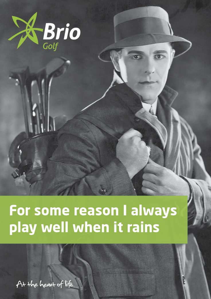 For some reason I always play well when it rains - Brio Golf #golf