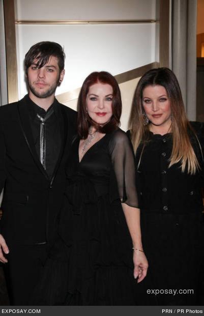 Navarone Garibaldi, Priscilla and Lisa Marie Presley