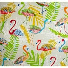 Go Flamingo Outdoor Fabric in Punch