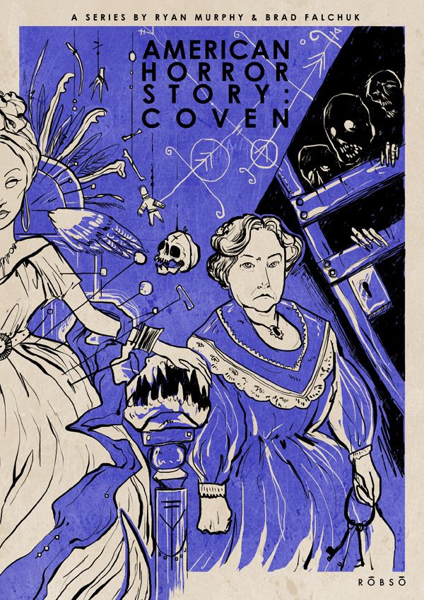 American Horror Story: Coven by Roberto Sánchez, via Behance