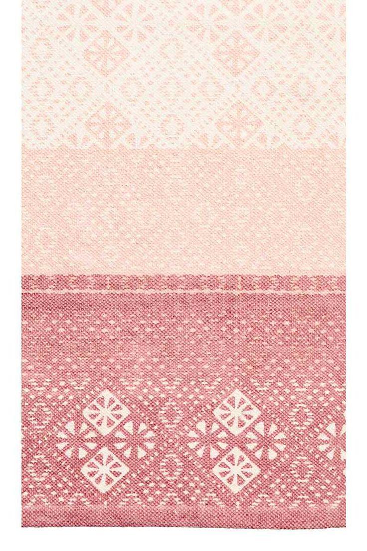Covoraș de bumbac cu motive - Roz-deschis/roz-întunecat - HOME   H&M RO