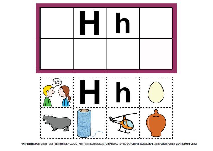 Abecedario con pictogramas: H http://informaticaparaeducacionespecial.blogspot.com.es/2013/09/abecedario-con-pictogramas-de-arasaac.html