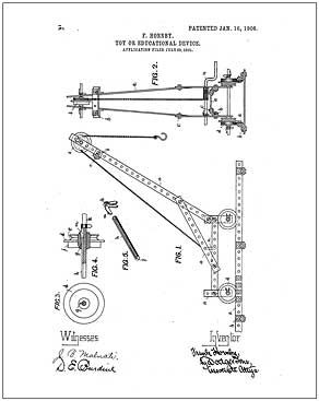 1st Meccano Set, 1906, invented by F. Hornby.