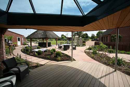 garden design & landscaping, paving, ipe, balau decking. natural stone. View from the house | Landscaping | Norfolk