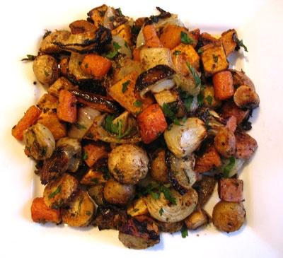 Oven-Roasted Winter Vegetables   Lisa's Kitchen   Vegetarian Recipes ...