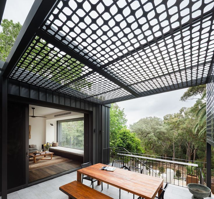 this multi level house in sydney is located on a steep site with a 49 foot drop garden canopycanopy designoutdoor