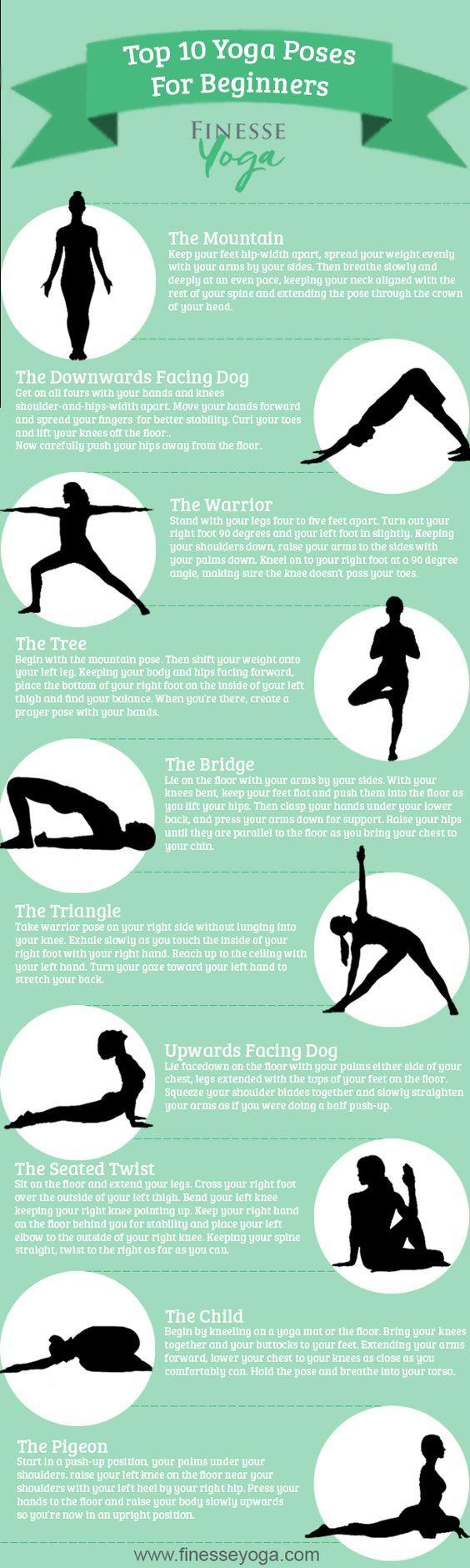 Yoga für Anfänger - bist du noch eine frische Yogini und möchtest auch das Entspannen und Relaxen lernen? Hier bekommst du die Anleitung mit Erklärung, YouTube Videos; Infografiken und die Übungen zum Start.