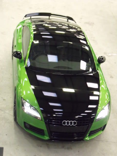 Audi - Loving the green Wanna do this to my formula firebird ws6