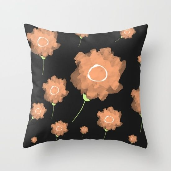 Imaginary Flowers II Throw Pillow