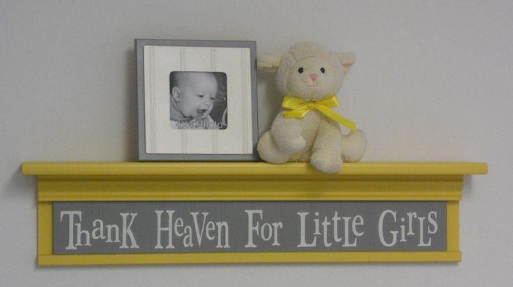 Yellow and Grey Nursery Bedding | Yellow Gray Nursery Decor Baby Girl Gift - Thank Heaven For Little ...