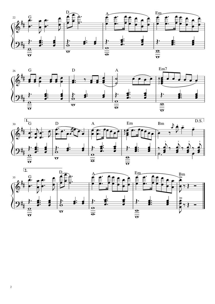 Sheet music made by alessiobianchi3 for Piano