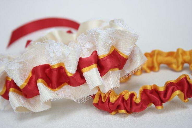 Custom Military Wedding Garter Set (Marines)-by The Garter Girl