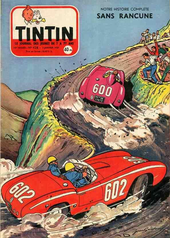 Journal de TINTIN édition Française N° 428 du 3 Janvier 1957