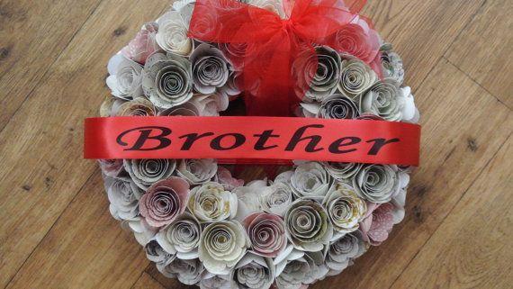 Personalised Funeral Wreath Ribbon Floral by PrintedRibbon4U