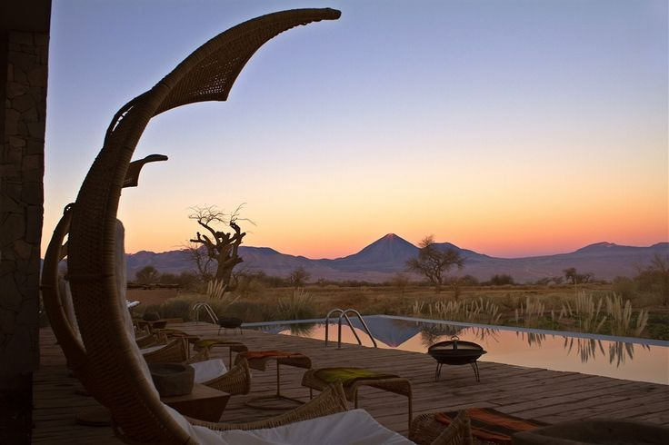 Relax and unwind with a view from Tierra Atacama in the Atacama Desert in Chile.