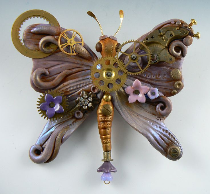 butterfly | STEAMPUNK STUFF | Pinterest | Polymers, Steam ...