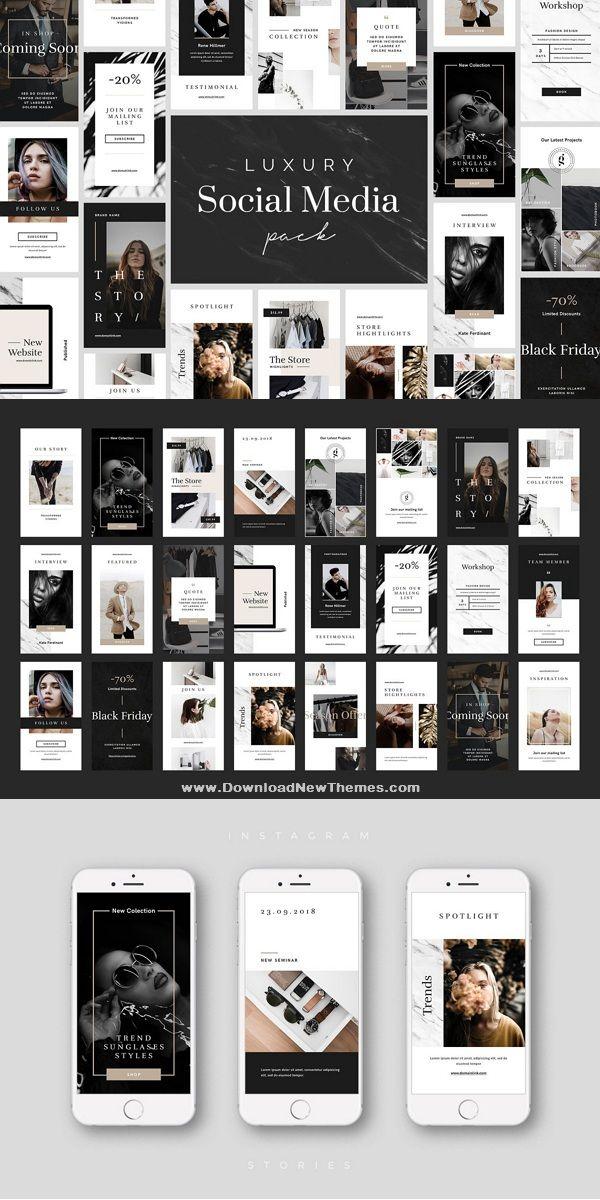 Luxury Social Media Pack Instagram Template Design Social Media Pack Instagram Layout