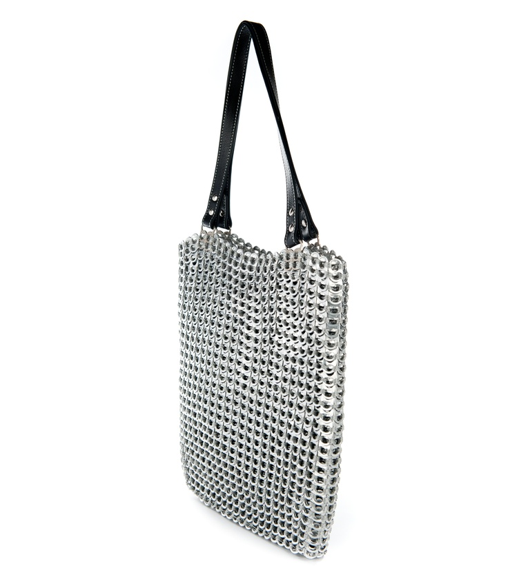 Pop Top Tote Bag Handmade from Recycled Aluminum by Escama Studio