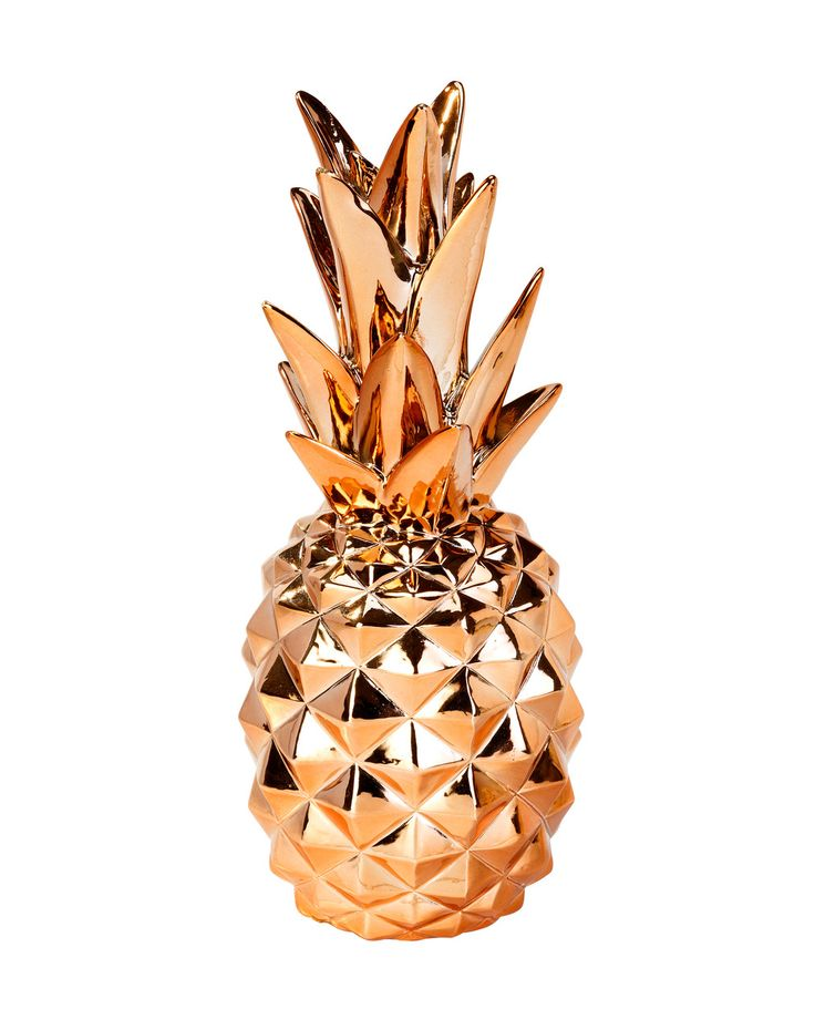 D coration ananas cuivre pineapple decoration pineapple for Decoration maison rose gold