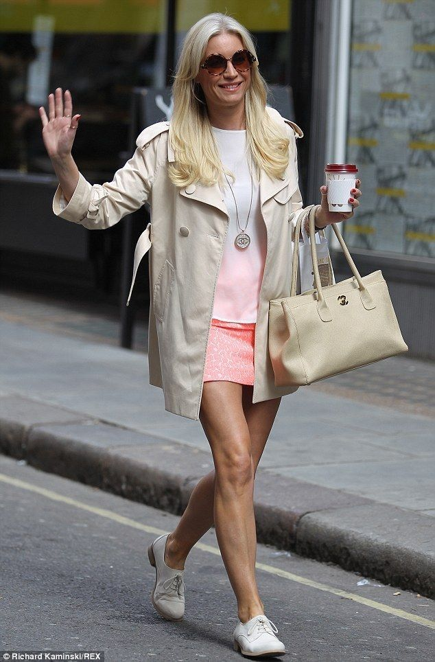 Denise Van Outen wears barely there brightly coloured mini skirt - Celebrity Fashion Trends