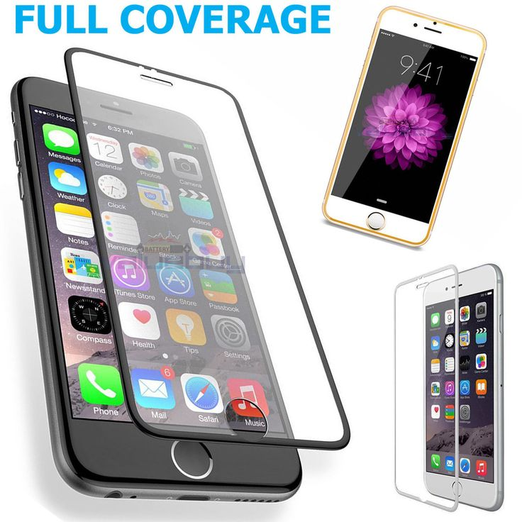 Full Coverage HD Tempered Glass Film Screen Protector for iPhone 6/iPhone 6 Plus  #iPhone #iPhoneProtector #iPhoneScreen #screenprotector