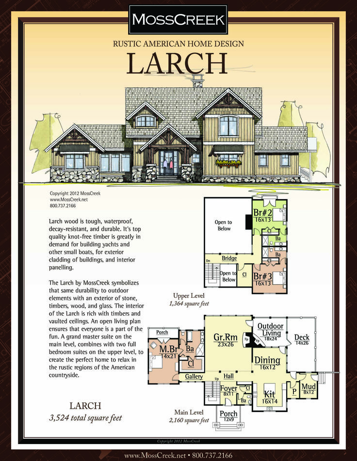 A Ready To Purchase 3,524 SF Home Plan From MossCreek.