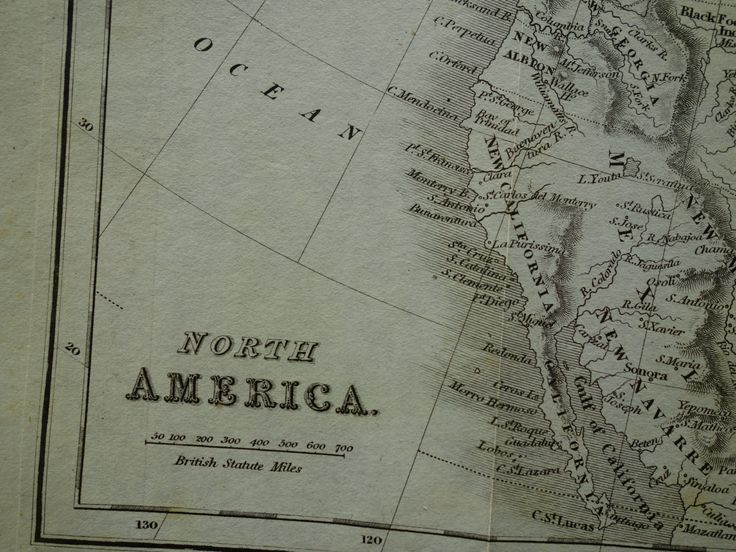 """1840 antique map of North America - lovely original old print - vintage poster continent US Canada USA Noord Amerika Etats-Unis - 9x11"""" by VintageOldMaps on Etsy"""