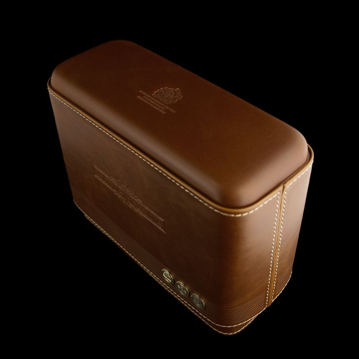 Materials: PU leather, EVA foam insert, rigid box embellished with zinc alloy medals. Markets: UK
