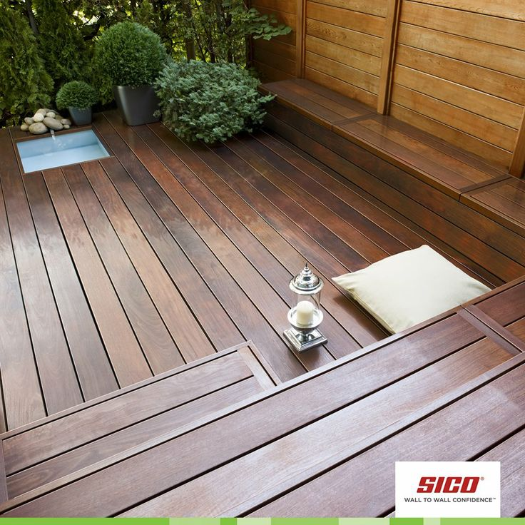 Can't wait to move the party outdoors? Deck out your wood surfaces first with a fresh coat of stain, applied evenly and thinly in the direction of the wood grain. How do you kick-start warm weather entertaining? Product used: Exterior wood stain, translucent Colour: Chestnut (2030-780)