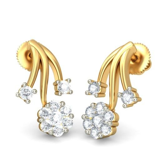The Caren Earrings | Diamond Earring In 18Kt Yellow Gold