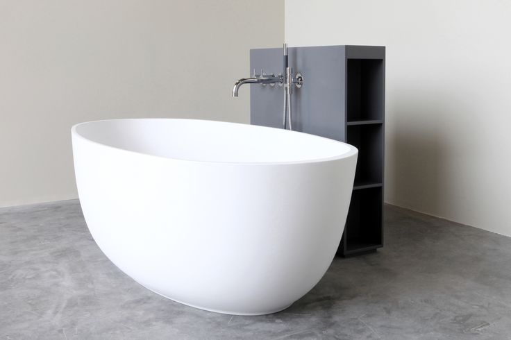 This free-standing egg-shaped bath called Loop is all about an elegant play of lines. #NotOnlyWhite