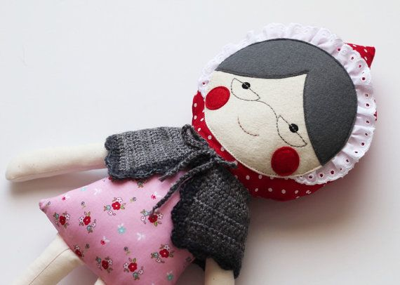 Handmade granny doll. Rag doll for grandmothers. Grandma by blita